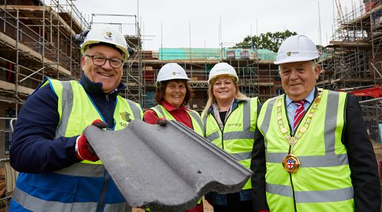 Great Ayton Extra Care court takes shape at topping out ceremony