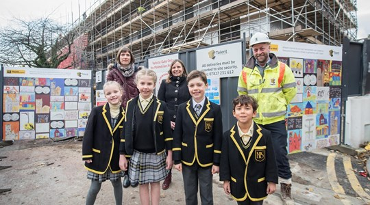 Tolent inspires future construction workers with community hoardings project
