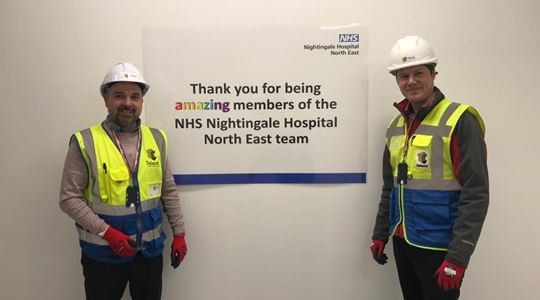 Tolent lead regional effort to complete NHS Nightingale Hospital in Sunderland