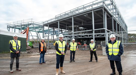 New £22m leisure centre takes shape in Berwick