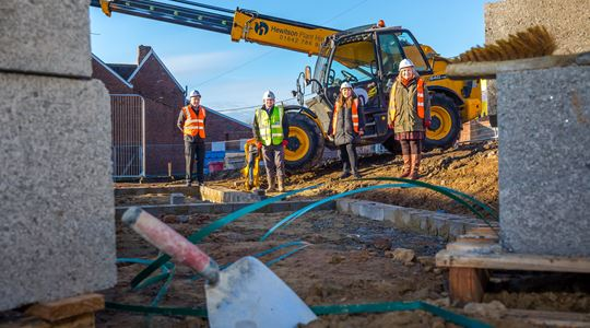 Foundations laid for £900k development